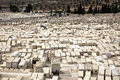 Jewish cemetary mount olives jerusalem israel Royalty Free Stock Photography