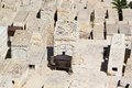 Jewish cemetery ancient on the mount of olives jerusalem israel Royalty Free Stock Photography