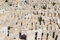 Jewish cemetery ancient on the mount of olives jerusalem israel Stock Photo
