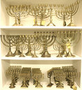 Jewish chandelier menorah Royalty Free Stock Photo