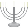 Jewish faith - a menorah Stock Image