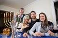 Jewish family celebrating Chanukah Royalty Free Stock Photo