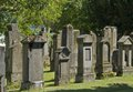 Jewish graveyard in sunny ambiance detail of a with lots of gravestones freiburg southern germany Stock Photo