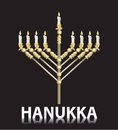Jewish hanukka menorah Royalty Free Stock Photo