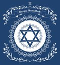 Jewish Hanukkah holiday background Stock Photos