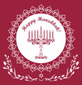 Jewish Hanukkah holiday vector background Stock Image