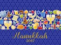 Jewish Holiday Hanukkah banners set. Vector illustration
