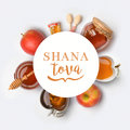 Jewish holiday Rosh Hashana banner design Royalty Free Stock Photo