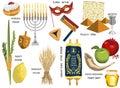 Jewish Holidays Icons Israeli ...