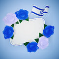 Jewish israel background with roses. Royalty Free Stock Photo
