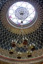 Jewish lustre in Spanish synagogue in Prague, Czech republic Royalty Free Stock Photo