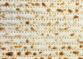 Jewish matzah background close up on the screen Royalty Free Stock Photo