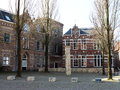 Jewish monument in leeuwarden holland front of the former dusnus school the historical town of located the north of the province Royalty Free Stock Photo