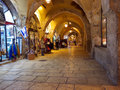Jewish quarter bazaar in old Jerusalem Royalty Free Stock Photo