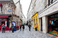 Jewish quarter of le marais in paris france march the rue des rosiers is a major centre the community Stock Image