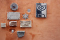 Jewish symbols in rome religious the ghetto italy Stock Images