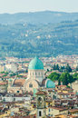 Jewish synagogue of florence from top Stock Image