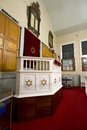Jewish synagogue pulpit Royalty Free Stock Photography