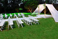 Jewish wedding ceremony canopy (chuppah or huppah) Stock Image