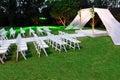 Jewish wedding ceremony canopy (chuppah or huppah) Royalty Free Stock Photo