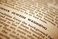 Jewish wedding close up of Stock Photo