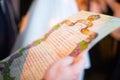 Jewish wedding. Huppa. Ketubah Royalty Free Stock Photo