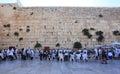 Jews Praying at Western Wall, Jerusalem Royalty Free Stock Photo