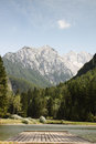 Jezersko lake slovenia view of the in europe Royalty Free Stock Images
