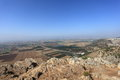 Jezreel Valley from Mount Precipice, Israel Royalty Free Stock Photo