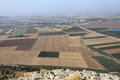 Jezreel valley from mount precipice view of the large fertile the lower galilee israel the top of the also Royalty Free Stock Photos