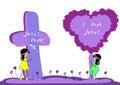 Jezus kocha ja Obrazy Stock