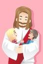 Jezus miłość dzieciaki Obrazy Royalty Free