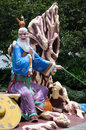 Jiang Tai Gong statue at Haw Par Villa in Singapore Royalty Free Stock Photo