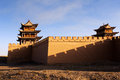 Jiayuguan tower it is the of city gansu province china Royalty Free Stock Photo