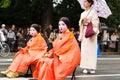 Jidai matsuri festival in kyoto japan october on october participants at the historical parade one of s renowned three Royalty Free Stock Photo