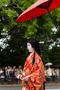Jidai matsuri festival in kyoto japan october on october participants at the historical parade one of s renowned three Royalty Free Stock Photography