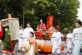 Jidai matsuri festival in kyoto japan october on october participants at the historical parade one of s renowned three Royalty Free Stock Image