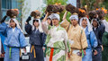 Jidai matsuri in kyoto japan october on october unidentified participants at the historical parade one of s Stock Photos