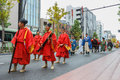 Jidai matsuri in kyoto japan october on october unidentified participants at the historical parade one of s Royalty Free Stock Images