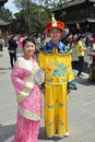 Jiezi, China: People in Vintage Chinese Clothes Stock Images