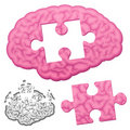 Jigsaw brain puzzle Royalty Free Stock Photography