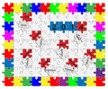 Jigsaw drop down puzzle wishful thinking Stock Photos