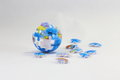 Jigsaw earth puzzle unfinished planet Royalty Free Stock Photography