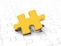 The jigsaw Royalty Free Stock Photo