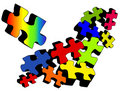 Jigsaw Jumble Stock Image