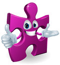 Jigsaw mascot Royalty Free Stock Photo