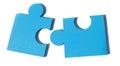 Jigsaw metaphor mixed Royalty Free Stock Photo