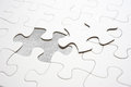 Jigsaw piece fill in blank, conceptual image Royalty Free Stock Photo