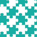 Jigsaw pieces seamless pattern puzzle geometric tile Stock Photos