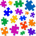 Jigsaw pieces vector illustration Stock Photos